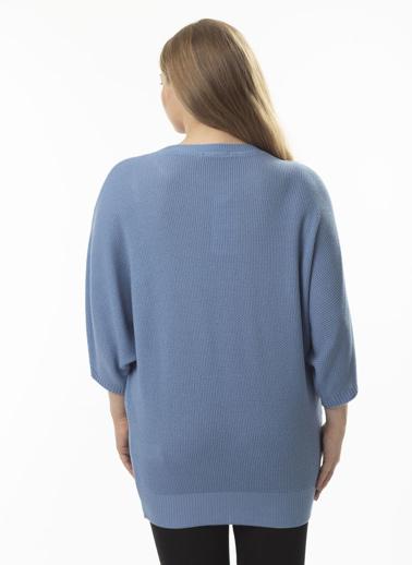 Stamina Büyük Beden Bluz Mavi